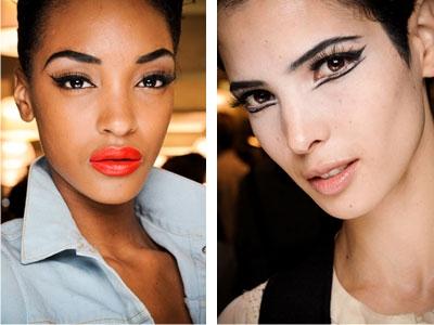 модный макияж, стрелки