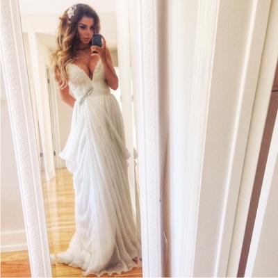 Анна Седокова, свадебное платье