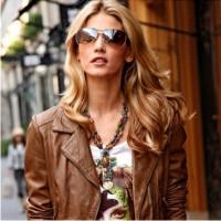 cтильные новинки, мода осень 2013, кожаный пиджак