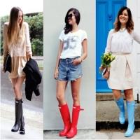 резиновые сапоги, модный тренд