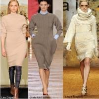 вязаные платья, модная одежда