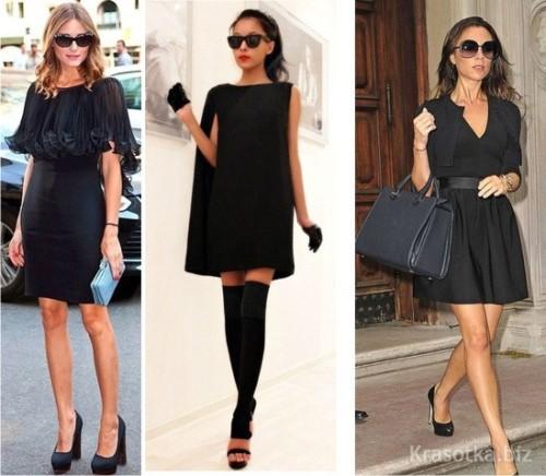 Черное модное платье 2016