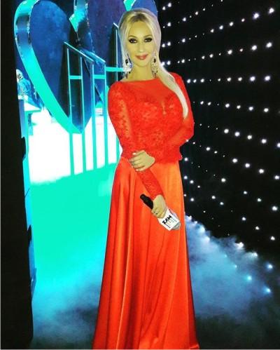 Красное платье на лере кудрявцевой