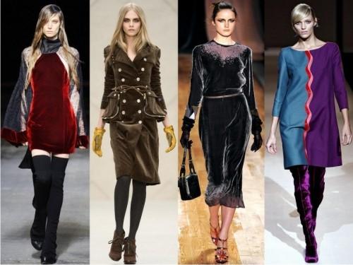 Тренд бархатные платья