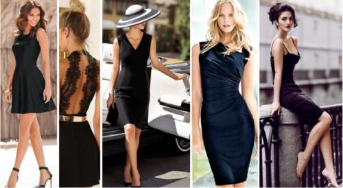 платья 2016 черные фото