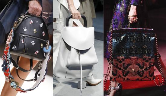 f5b78ebc2c00 Модные дизайнеры буквально поголовно включили в свои новые коллекции рюкзаки.  Мировые бренды доказывают, что такая замена женской сумочки может выглядеть  не ...
