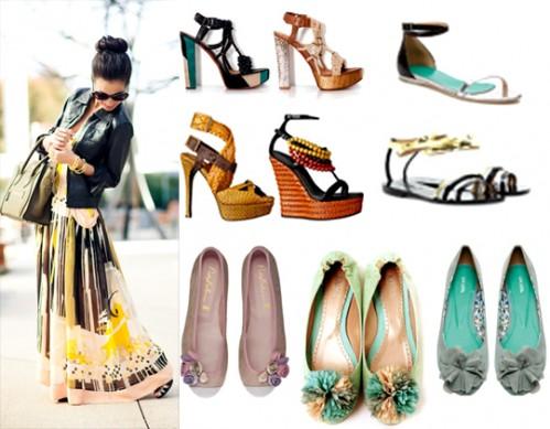 Какая обувь подойдет к длинному платью в пол