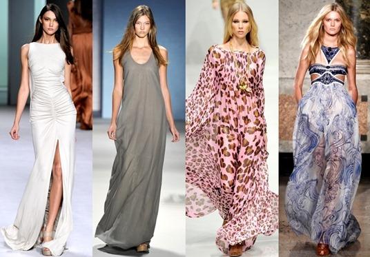 Фото красивых длинных летних платьев