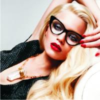 красота очки, макияж, журнал