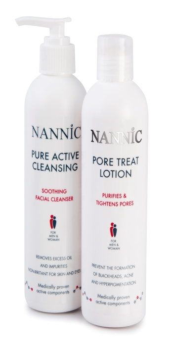 линия для умывания NANNIC, ART-B, NANNIC Poretreatlotion, NANNIC Pure Active Cleansin, NANNIC MAKE-UP REMOVER GEL